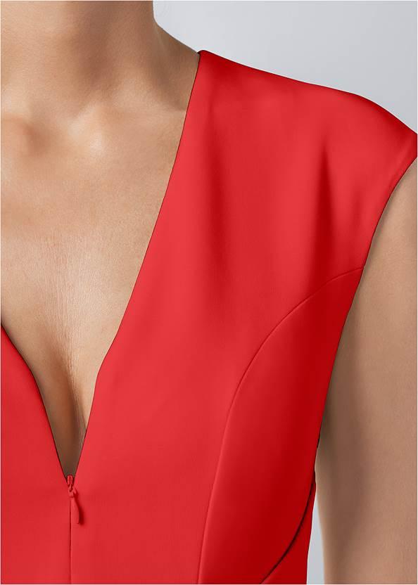 Alternate View Bow Detail Bodycon Dress