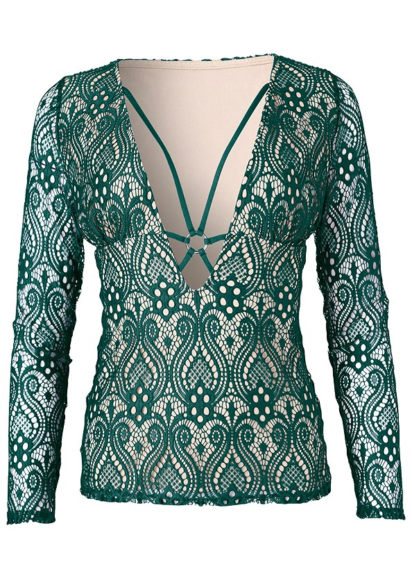 Strappy Detail Lace Top,Mid Rise Slimming Stretch Jeggings,High Heel Strappy Sandals