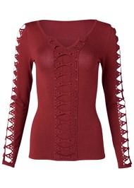 Alternate View Lattice Detail Sweater