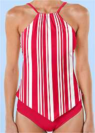 Front View High Neck Tankini Top