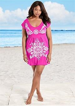 plus size print dress