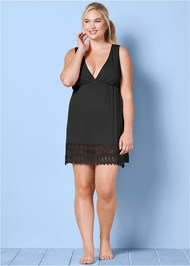 FRONT VIEW Sleeveless V-Neck Cover-Up