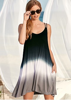 dip dyed cover-up dress