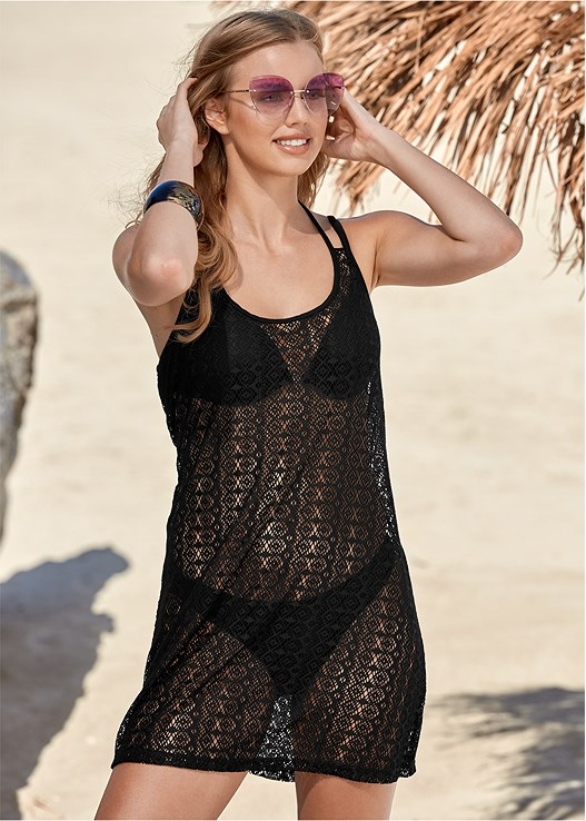 CROCHET COVER-UP DRESS