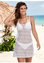Front View Crochet Cover-Up Dress