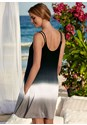 Back View Dip Dyed Cover-Up Dress