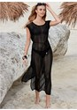 Front View Crochet Mesh Cover-Up Dress