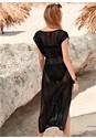 Back View Crochet Mesh Cover-Up Dress