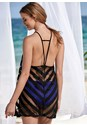 Back View Shadow Stripe Cover-Up