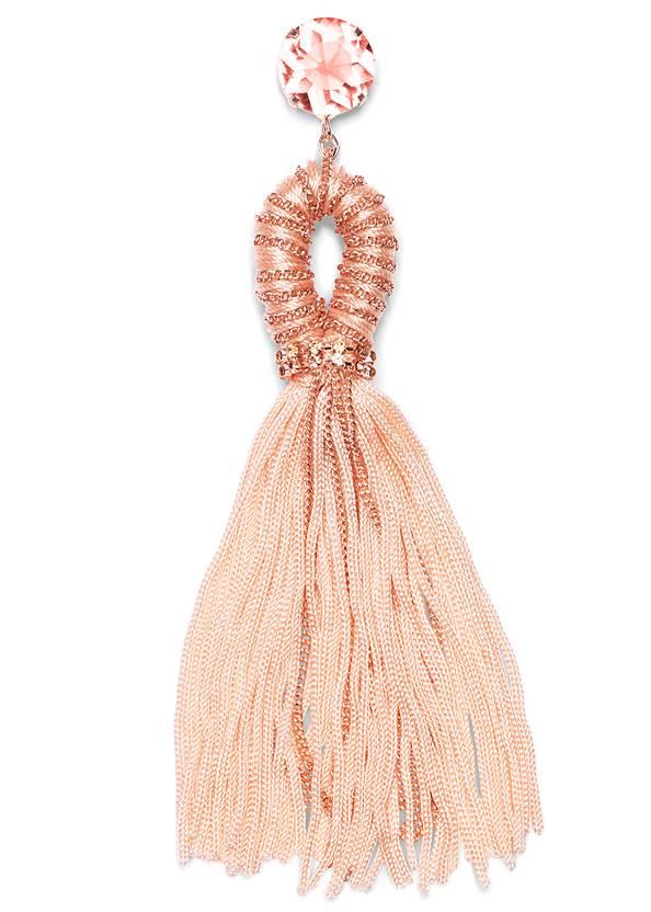 Alternate View Embellished Tassel Earrings