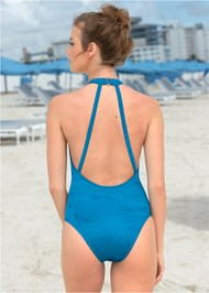 Back View Sexy High Neck One-Piece