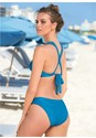 Back View Ribbed Triangle Bikini Top