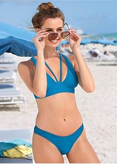 ribbed triangle bikini top
