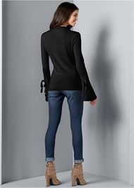 Back View Trumpet Sleeve Sweater