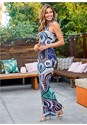 Front View Abstract Print Maxi