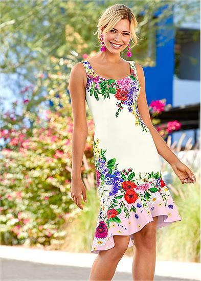 Ruffle Trim Detail Dress