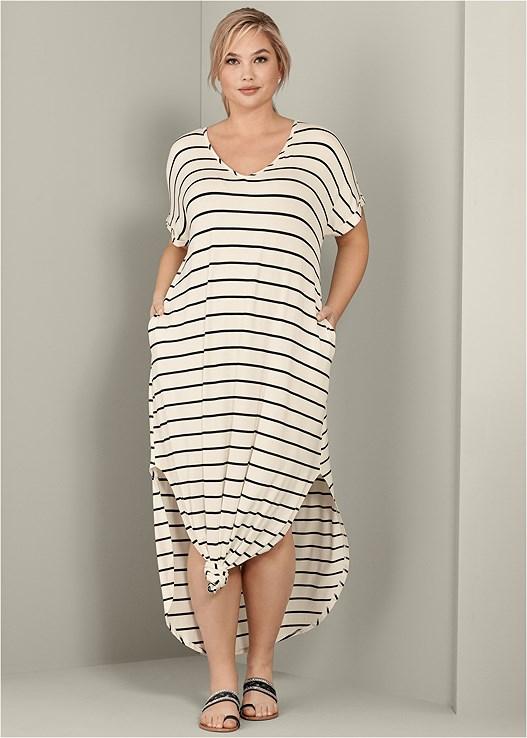Plus Size STRIPED MAXI DRESS | VENUS