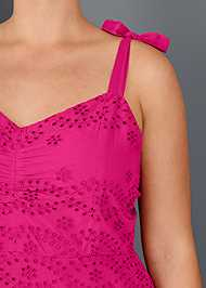 Alternate View Eyelet Detail Dress