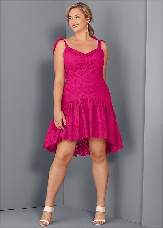 593180a72f5 Plus Size EYELET DETAIL DRESS