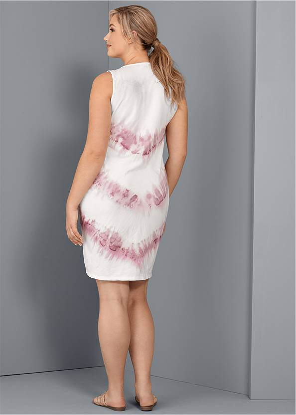 Back View Tie Dye Ruched Lounge Dress