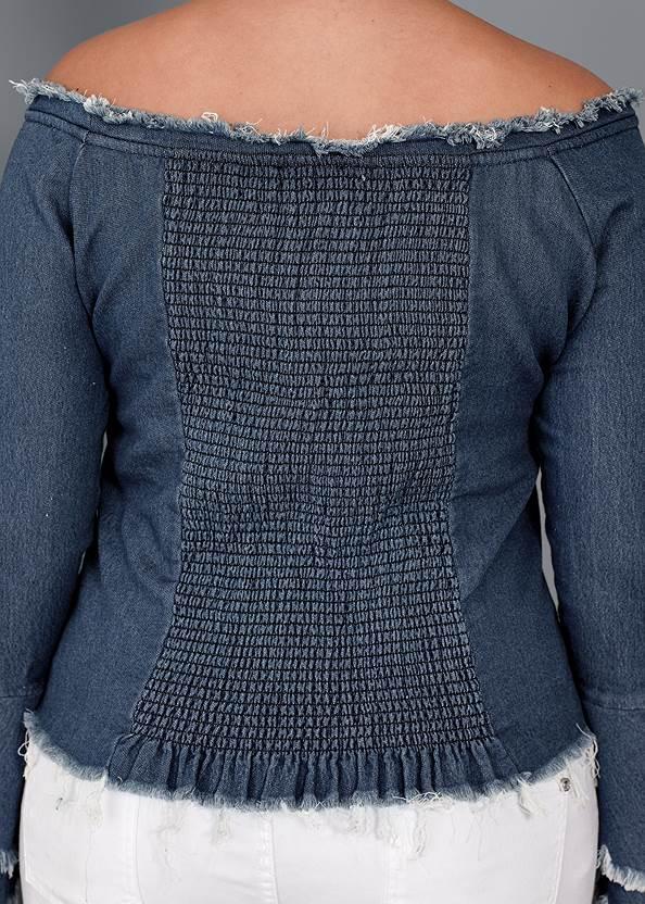 Alternate View Off-The-Shoulder Denim Top