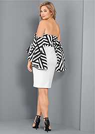 Back View Off The Shoulder Dress