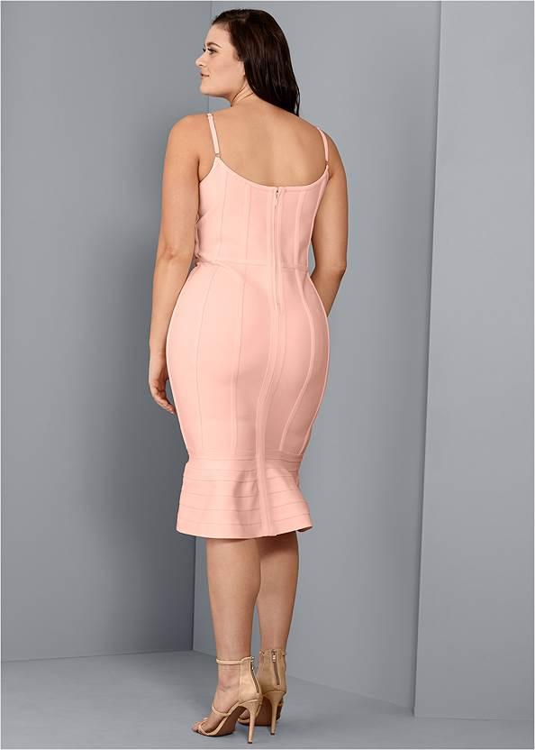 Back View Bandage Bodycon Dress