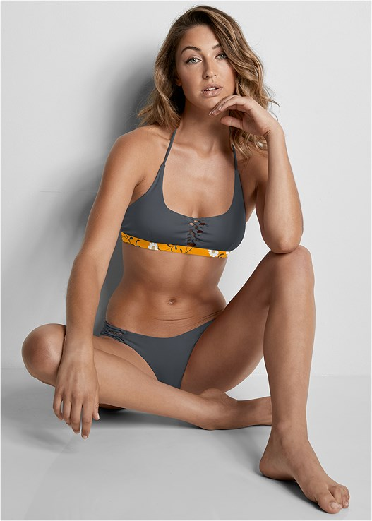VERSATILITY BY VENUS ™ REVERSIBLE LACE UP TOP,VERSATILITY BY VENUS™  REVERSIBLE CHEEKY BOTTOM