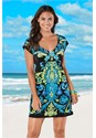 Front View V Neck Cover-Up Dress