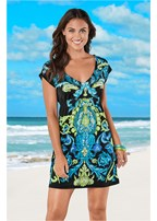 v neck cover-up dress