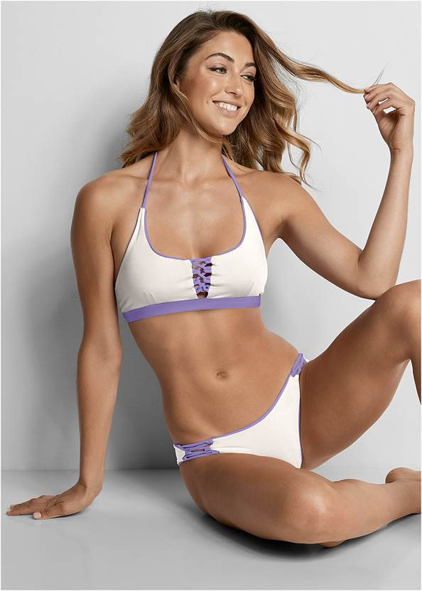 Versatility By Venus ™ Reversible Lace Up Top,High Waist Moderate Bottom