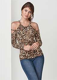 Front View Strappy Detail Top