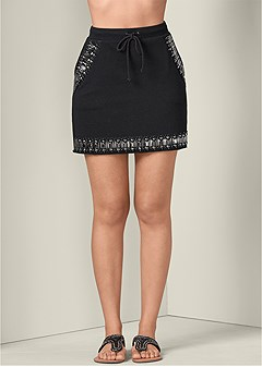 jeweled lounge skirt