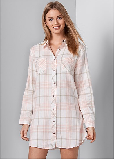 Plaid Sleep Dress