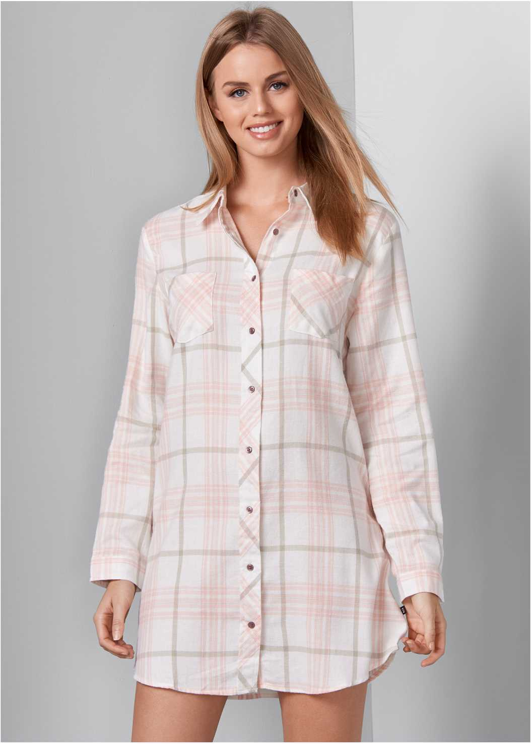 Plaid Sleep Dress