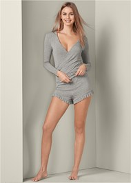 Alternate View Long Sleeve Shorts Set