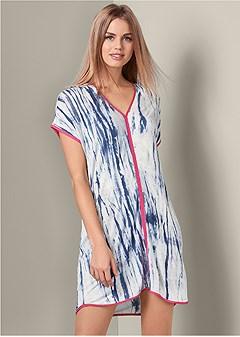 tie dye sleep dress