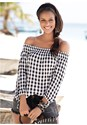 Alternate View Gingham Print Top