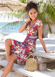 Floral A-Line Midi Dress