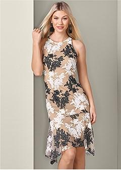 two tone lace dress