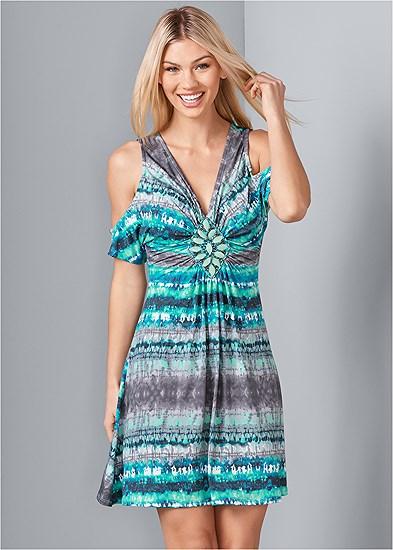 Embellished Tie Dye Dress