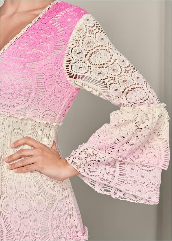 Alternate View Ombre Lace Maxi Dress