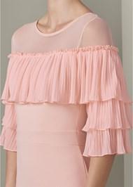 Alternate View Ruffle Detail Bodycon Dress