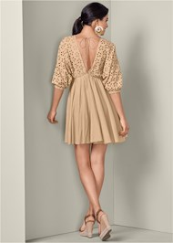 Alternate View Eyelet A-Line Mini Dress
