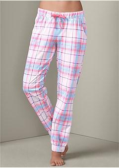 plaid sleep pants