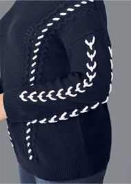 Alternate View Stitch Detail Sweater