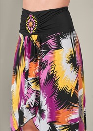 Detail  view Print High Low Skirt