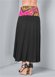 Alternate View Tie Detail Maxi Skirt