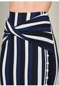 Alternate View Striped Midi Skirt