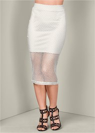 Alternate View Perforated Midi Skirt